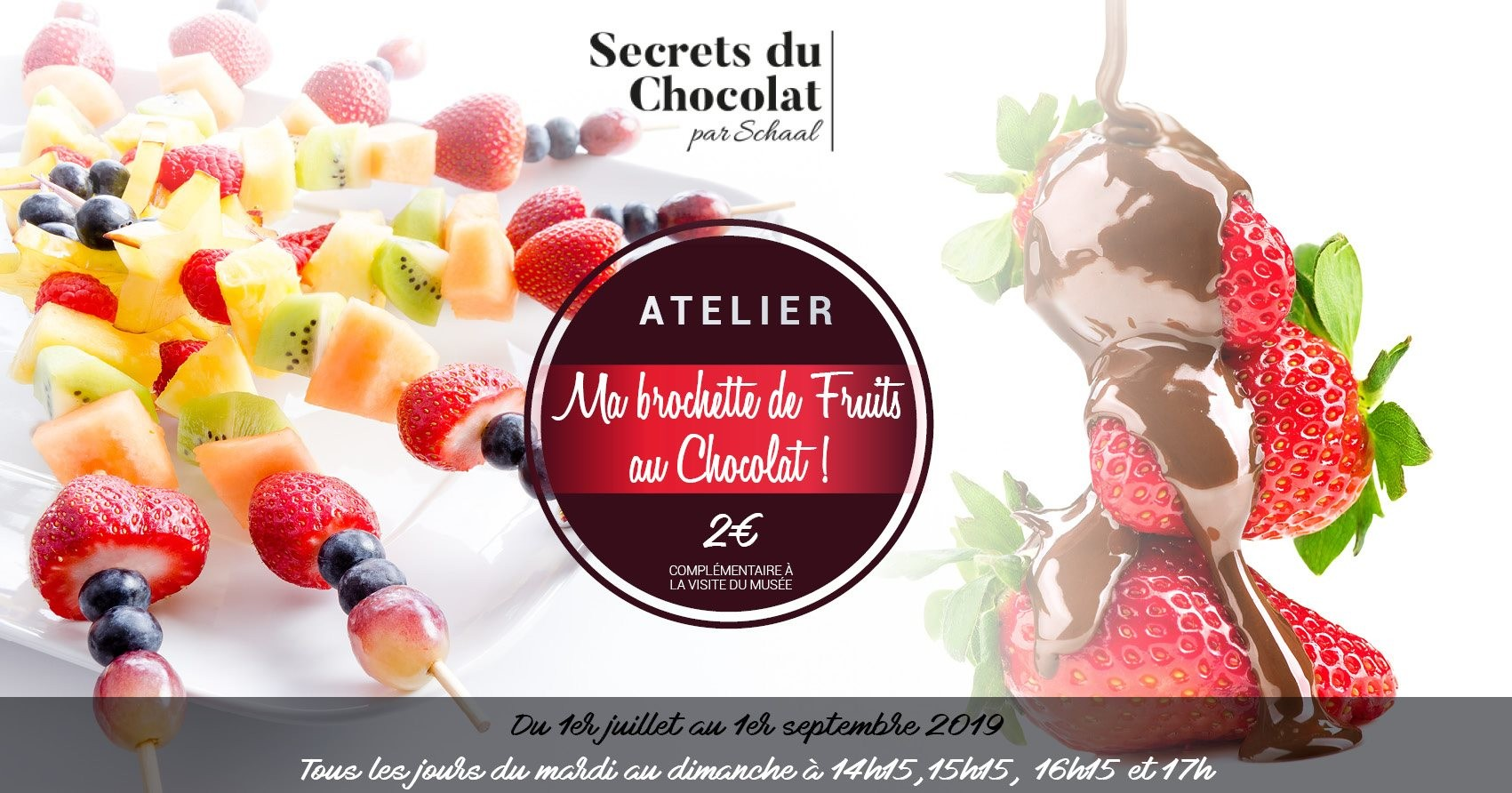 « Ma brochette de fruits au chocolat »