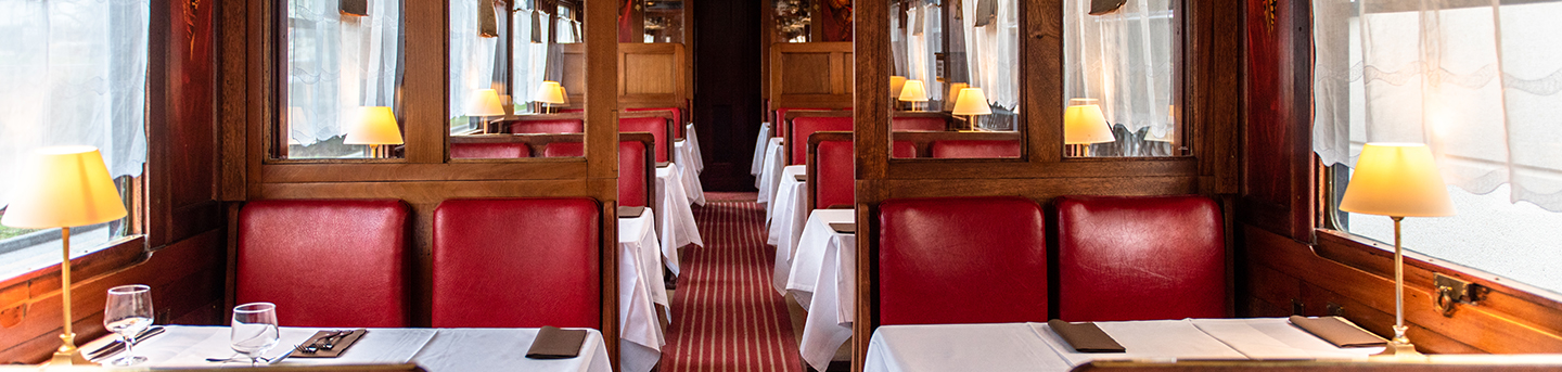 Stop off for a meal in our Orient-Express dining car